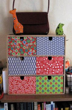 Lula Louise: Tutorial - How to Cover Wooden Drawers