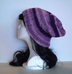 Purple Slouchy Beanie by QuiltsbySami on Etsy