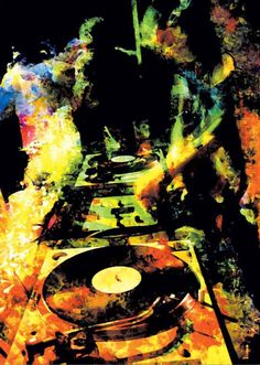 Abstract DJ Decks Canvas Print