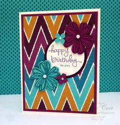 Stampin' Up! Birthday Card, Bohemian DSP, Flower Shop and SU Endless Birthday Wishes