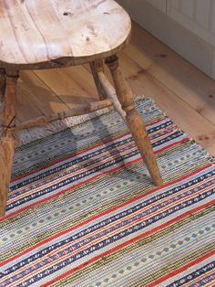 """A """"trasmatta"""" is a traditional Swedish rag rug, hand woven on a floor loom using strips of recycled cloth."""