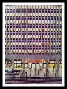 Georgia-Pacific Corp Building now Standard Ins Building Portland, OR.  Modernist.  'The Quest' Sculpture. Architectural Record 1968. ~8X11. by bluemtcreative2 on Etsy
