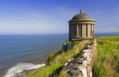 A Romantic Library. The Mussenden Temple, on the Downhill demesne, Co. Londonderry, where the Earl-Bishop of Bristol kept a collection of books in the 1780s.