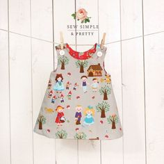 Girls A line dress pattern - easy toddler reversible dress patterns - children sewing patterns 1 to 8 years on Etsy, £3.67