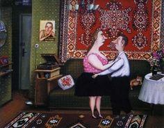 """Валентин Губарев ~ """"Медляк"""". В современном мире, помешанном на кассовости, художник Валентин Губарев стоит особняком, не гонится за славой и просто делает то, что любит. Его любят в Европе, а сам он живет и работает в Минске. Его творчество безумно популярно за рубежом, но почти незнакомо его соотечественникам. В середине 90-х годов в его бытовые зарисовки влюбились французы и заключили с художником контракт на 16 лет."""