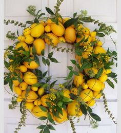 Lemon Wreath for summer