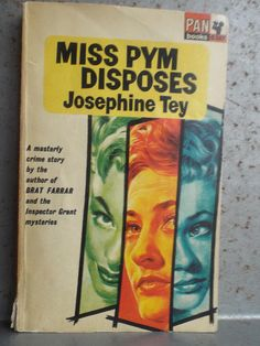 Miss Pym Disposes by Josephine Tey Pan Books 1965 Great Pulp Fiction, Crime, Mystery, Cool Stuff, Artwork, Books, Etsy, Black People, Work Of Art