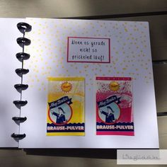 Somehow I liked the idea with the Wenn book so much .- Irgendwie hat mir die Idee mit dem Wenn-Buch so gut gefallen, dass ich gleich no Somehow I liked the idea with the Wenn book so much that I did not … – - Diy Gifts, Best Gifts, Stampin Up, Birthday Presents, Diy And Crafts, About Me Blog, Anniversary, Cool Stuff, Theater Rooms