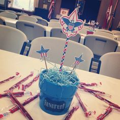 Eagle Scout Court of Honor centerpieces and decor. Could also be used for Boy Scout COHs!
