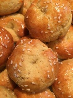 Bagel, Sweet Recipes, Breads, Biscuits, Greek, Sweets, Desserts, Food, Kuchen