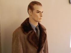 VINTAGE RETRO THICK SHEEPSKIN SHEARLING WARM WINTER JACKET COAT Large Size