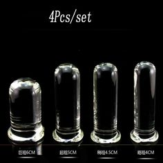 92.80$  Buy now - http://alivre.worldwells.pw/go.php?t=32502365096 - 4 pcs/set Promotion clear glass huge big anal dildo butt plug adult sex toys for woman anal dilator stimulator plugs buttplug 92.80$