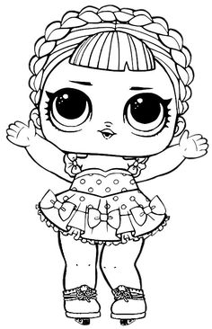 Discover recipes, home ideas, style inspiration and other ideas to try. Cute Coloring Pages, Coloring Pages To Print, Adult Coloring Pages, Coloring Pages For Kids, Coloring Sheets, Coloring Books, Doll Drawing, Lol Dolls, Paper Dolls
