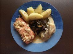 Seeteufel und Lachs mit Zuchinigemüse und Kartoffeln 10. Dezember 2014