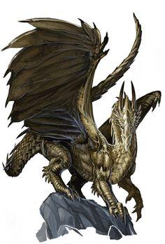 Young Gold Dragon by BenWootten.deviantart.com on @deviantART