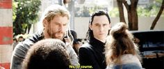 Screw Thor, I would've asked to take a selfie with Loki instead.  While kneeling of course.