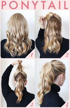 hairstyles (ponies) for curly hair step by step - Google Search for tomorrow march 5th 2015 for awesome but also horrible school