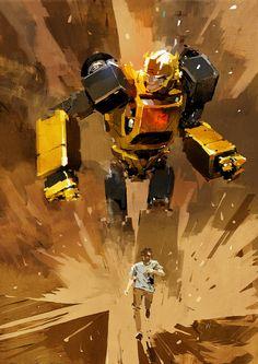 Transformers News: TFcon USA 2017 Update - Ashley Wood Limited Artwork, ThreeA Limited Dark of the Moon Optimus Statue Transformers Bumblebee, Transformers Optimus, Gi Joe, Nova Era, Ashley Wood, Ex Machina, Graphic Design Print, Video Game Art, Sci Fi Art