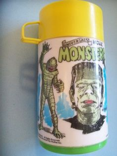 1979 Universal Monsters Thermos Frankenstein Dracula Mummy Creature Wolfman