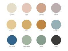 Victorian colour palette // lots of tile options Folk Victorian, Victorian Tiles, Edwardian House, Victorian Farmhouse, Victorian Bathroom, Modern Victorian, Victorian Decor, House Color Palettes, House Color Schemes