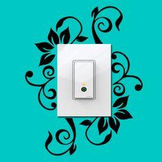 Adesivo para interruptor Floral, adesivo de interruptor, adesivo de floral, adesivo primavera, adesivo de primavera