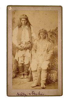 Natla and brother - Mescalero Apache - 1884.