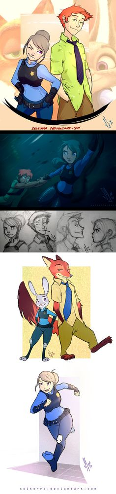 This 18th of February, with 2 friends, we go to see Zootopia!! Was so amazing really!! And I wanted to do some art in their human forms x3 They are adorable really xD I hope you like it! More Art &...