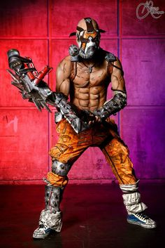 Mind on Fire - Psycho Krieg Borderlands 2 Cosplay by LeonChiroCosplayArt.deviantart.com on @deviantART