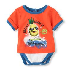 The cute look of a t-shirt in the comfort of a bodysuit - perfect for baby!