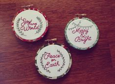 Peace on Earth Christmas Embroidery Hoop by tenfeetoffbeale