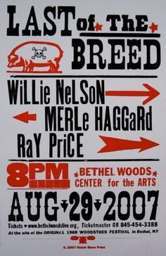 GigPosters.com - Willie Nelson - Merle Haggard - Ray Price