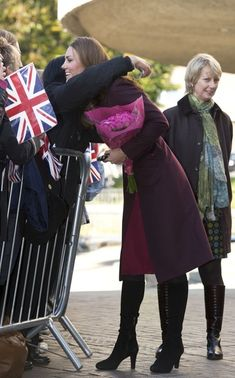 Catherine, Duchess of Cambridge hugs a well-wisher as she visits Newcastle Civic Centre, on October 19, 2012 in Newcastle Upon Tyne, United Kingdom. (October 9, 2012 - Source: WPA Pool/Getty Images Europe)