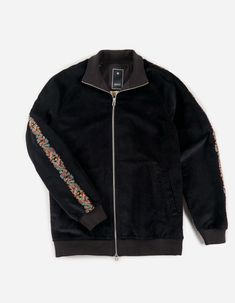 Maharishi | Liberty Dragon Track Jacket · British Velvet Funnel Neck, Liberty, Personal Style, Bomber Jacket, Things To Come, British, Dragon, Velvet, Elegant