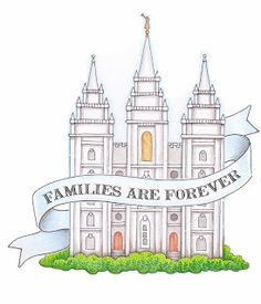 susan fitch design: FAMILIES ARE FOREVER TEMPLE, free for personal/church use, 2014 Primary Theme
