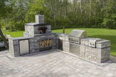 Harvest Grove Outdoor Kitchen in L shape configuration.