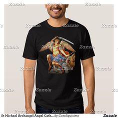 St Michael Archangel Angel Catholic T- Shirt 2