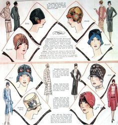 1922 Womens Flapper Hat Pattern book, $10.99, via Kalliedesigns @ Etsy.