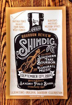 2014 Shindig Poster #Bourbon #Whiskey