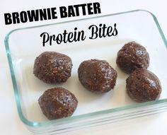 Brownie batter protein bites