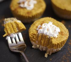 No-Bake Pumpkin Tarts! (Vegan, Paleo)