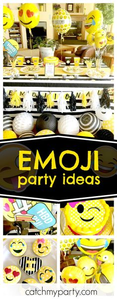 Check out this fun double digit Emoji birthday party. 13th Birthday Parties, Birthday Party Games, Birthday Emoji, Emoji Birthday Party Ideas Girls, 12th Birthday, Emoji Theme Party, Birthday Party Invitation Wording, Party Time, Baby Shower