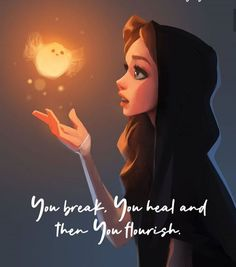 Pretty Quotes, Girly Quotes, Disney Quotes, Cute Quotes, Cute Cartoon Girl, Cartoon Art, Cute Images With Quotes, Dreamer Quotes, Magical Quotes