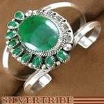 Navajo Indian Jewelry Malachite and Genuine Sterling Silver Bracelet