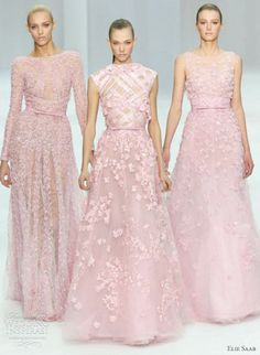Elie Saab (of course- shes my FAVORITE Designer!) with a trio of pink dresses. In *love* with these!