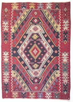 Antique Sarkoy kilim, Sarkoy district, Thrace, European Turkey, Ca A finely woven and striking kilim with t. on Oct 2006 Kilims, Romania, Persian, Ireland, Oriental, Bohemian Rug, Carpet, Decorating, Antiques