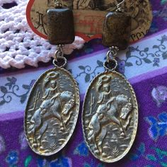 West Coast Cowgirl Cowboy Earrings New