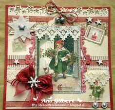 De kaarten van ons Mam: ... Kerstkaart week 21..