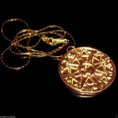 Argeiphontes Amulett + Kette 18k vergoldet  Geschäft Handel Gewerbe Reise Erfolg