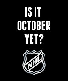 October needs to come faster!