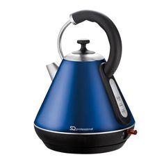 Premium Dark Blue Electric Cordless Kettle Washable Filter Rapid Boil for sale online